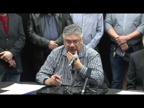 Press Conference - Constuction of Road Connecting Berens River and St. Theresa Point - Jan-27-2017