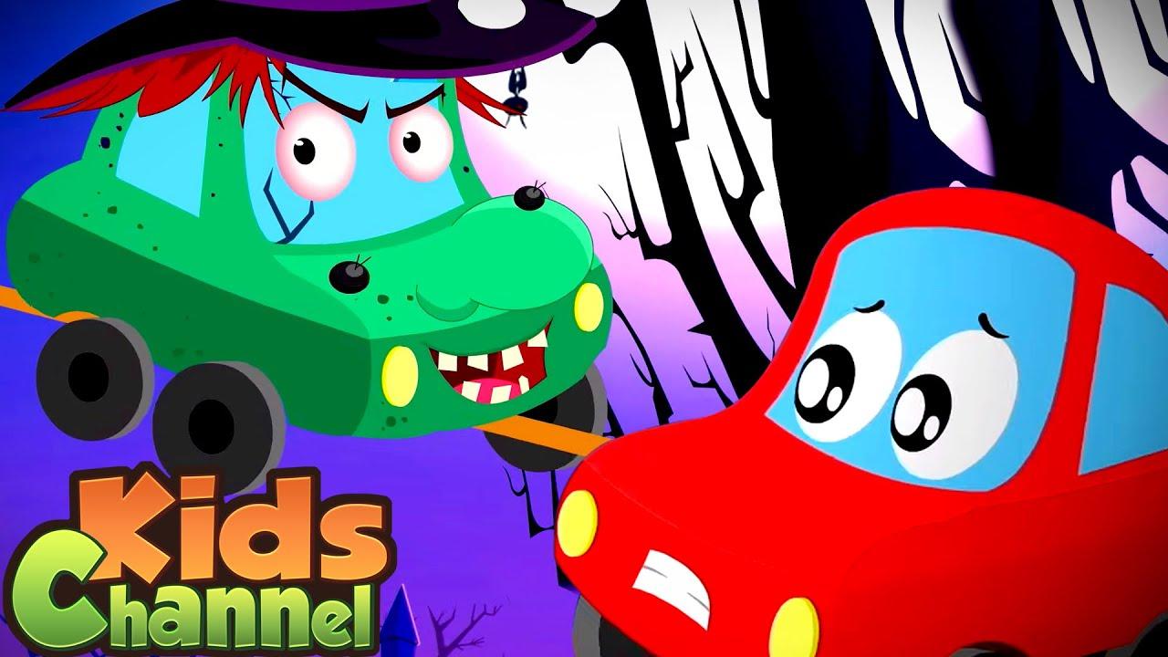 Happy Hallowen Song | Little Red Car Cartoon Videos | Halloween Music from Kids Channel