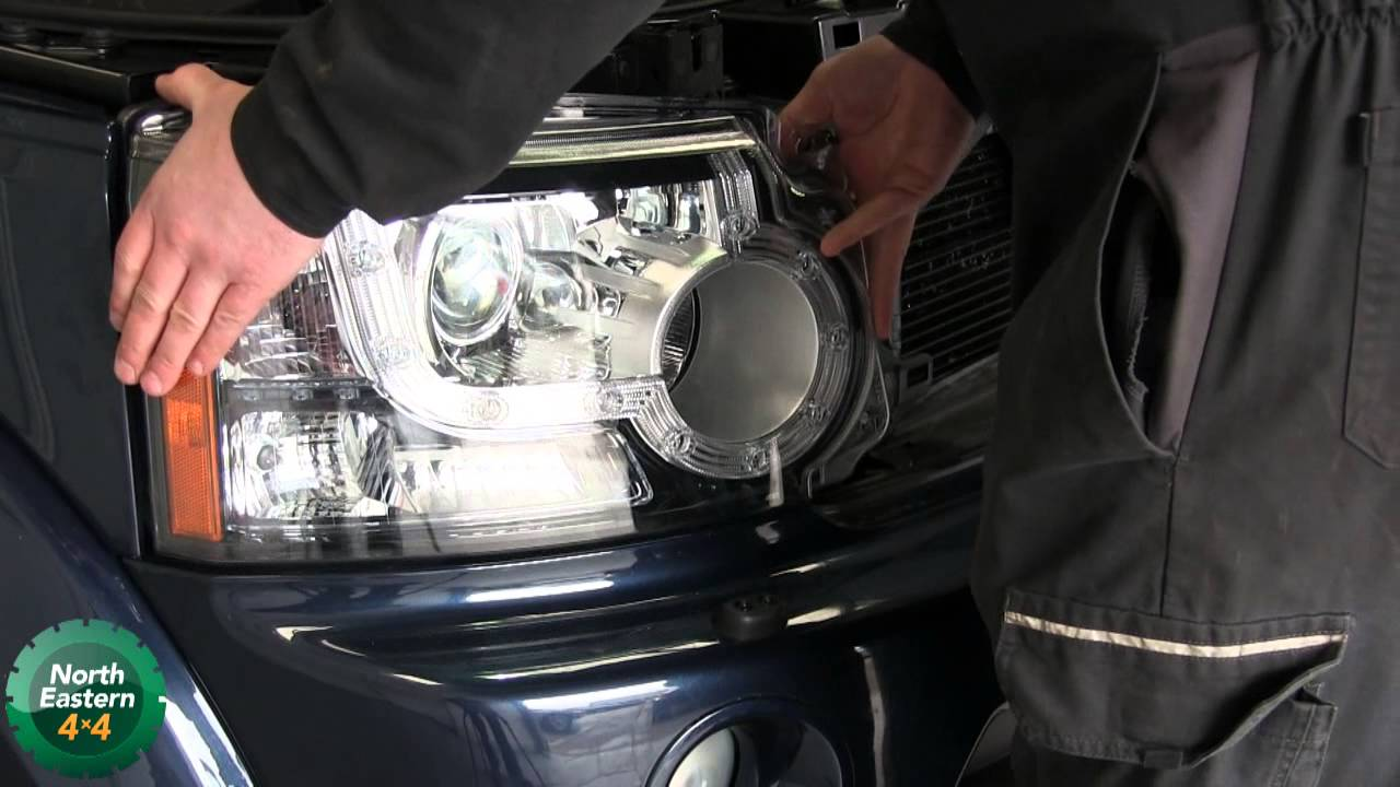 Land Rover Discovery 4 Changing The Head Light Bulb