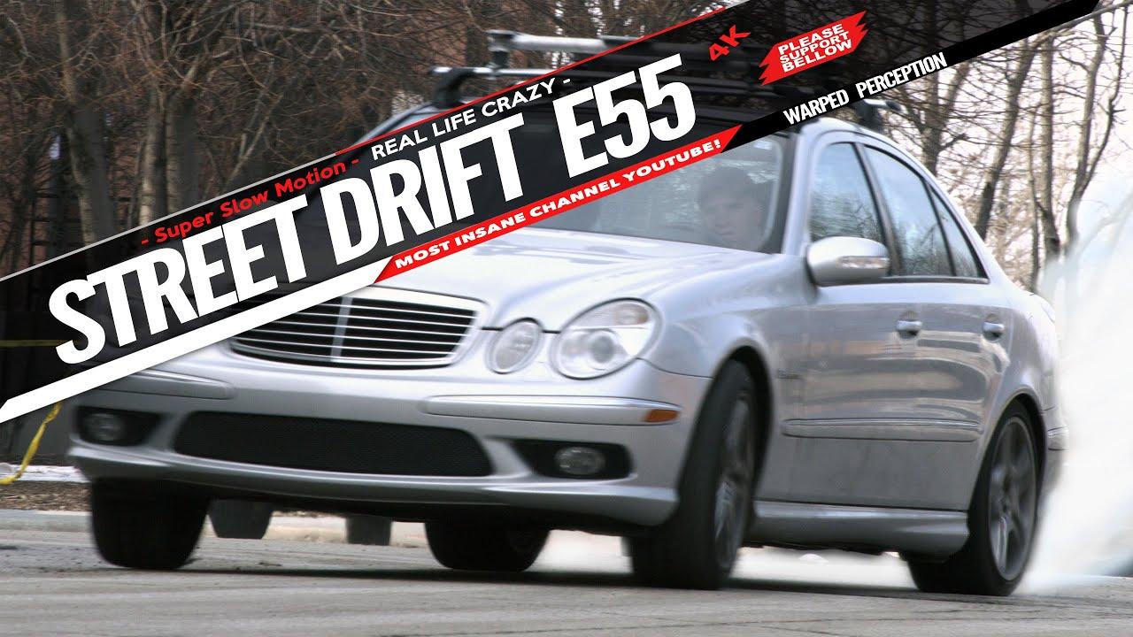 Street Drifting Mercedes E55 Amg Drifting 4k Slow Mo Street