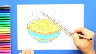 How to draw and color Noodles