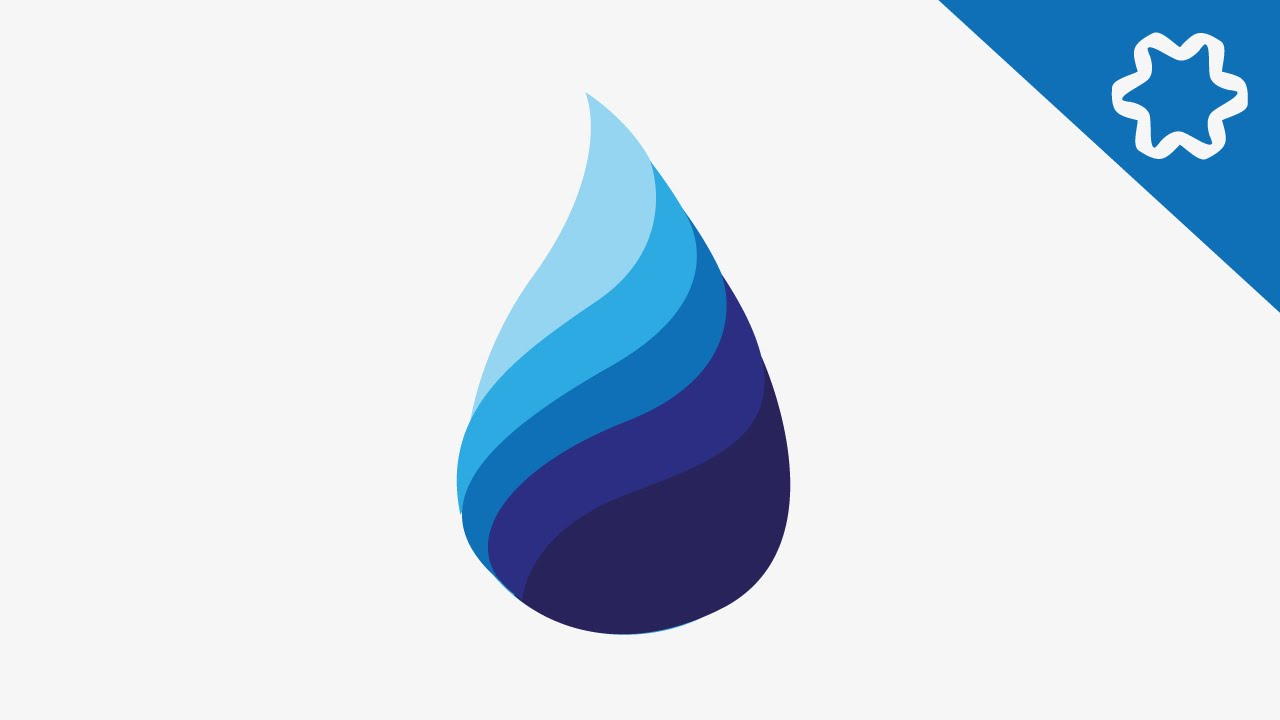 water drop logo design tutorial circular logo adobe illustrator