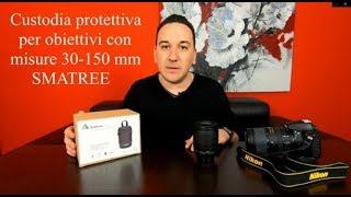 Custodia protettiva rigida per obiettivi fotografici 30-150 mm di marca SMATREE