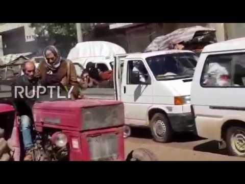 Syria: Civilians leave Afrin following Turkish assault