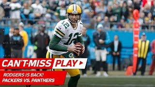 Aaron Rodgers Leads First TD Drive Since Returning from Injury! | Can