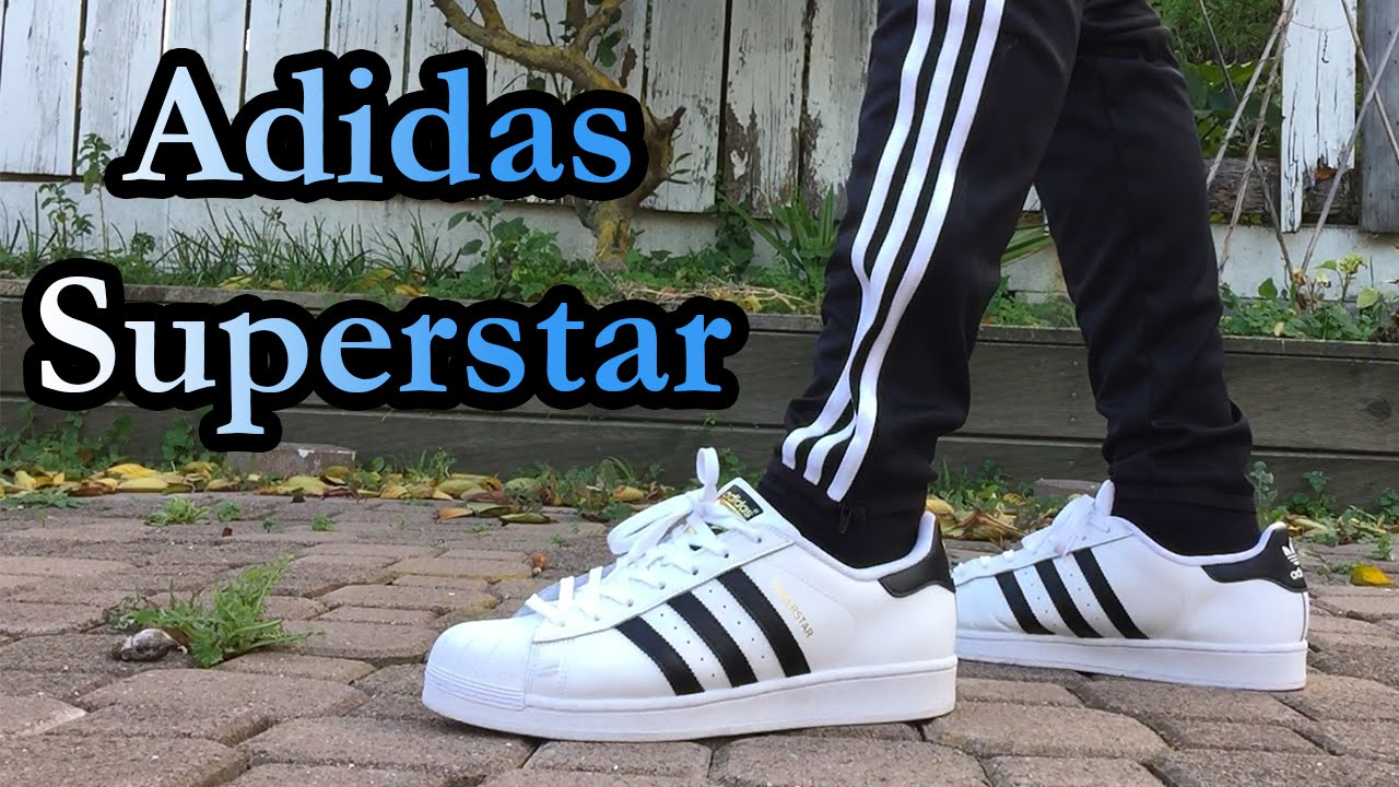Adidas Superstar Black White On Feet