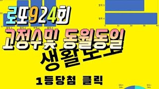 로또924회 고정수및 동월동일