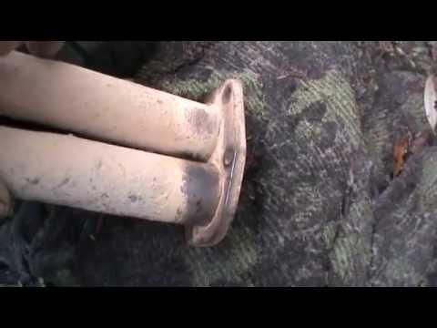 Как заделать трещину в глушителе