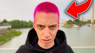 Ich färbe meine Hąare pink...