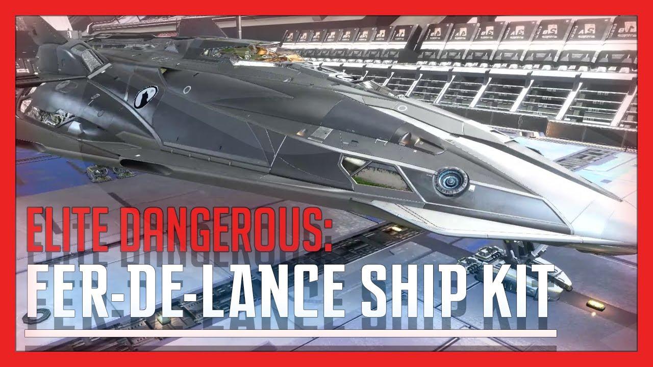 Fer De Lance Ship Kit Elite Dangerous Youtube