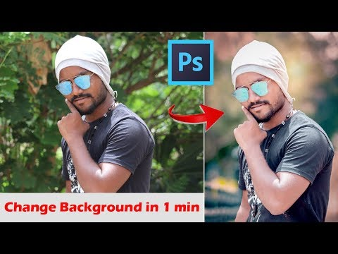 How to change background in 1 min | photoshop tutorial | learn photoshop easily | photo editing thumbnail