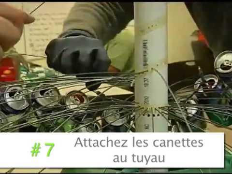 Comment fabriquer un arbre de no l avec des canettes d - Deco de noel exterieur a fabriquer ...