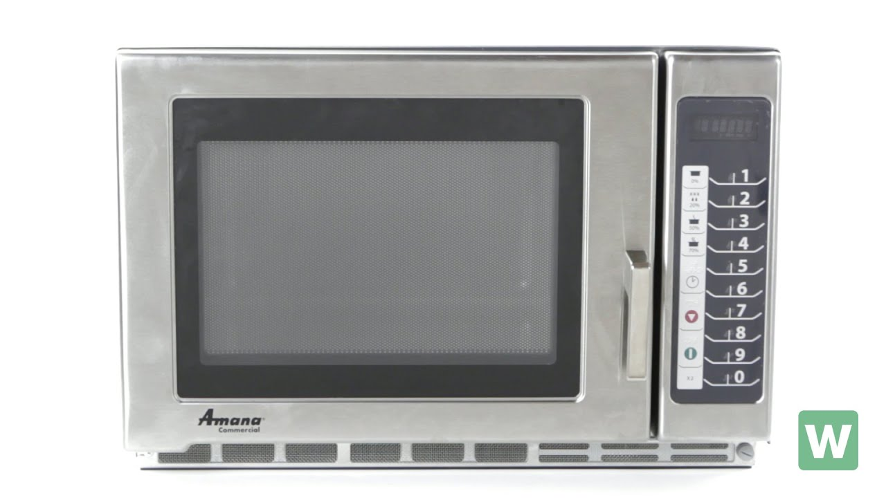 Amana Heavy Duty Stainless Steel Microwave Item Rfs12ts