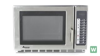 Amana Heavy Duty Stainless Steel Microwave - Item RFS12TS
