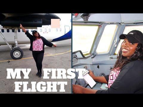 My first time flying in a Plane 😁 ✈Nairobi, Kenya |Kemunto Bear