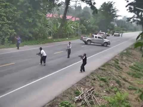 Terrorist Shooting Action Captured in Camera