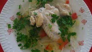 Куриный суп с вермишелью. Как приготовить суп из курицы. Блюда из курятины. Быстрый способ.