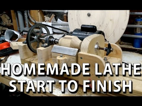 HomeMade lathe - compilation, start to finish (torno casero)