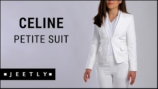 Petite suit jacket and trousers - Celine white suit by Jeetly