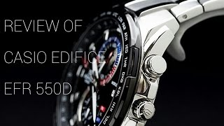 CASIO EDIFICE EFR-550D-1AVUDf UNBOXING AND REVIEW