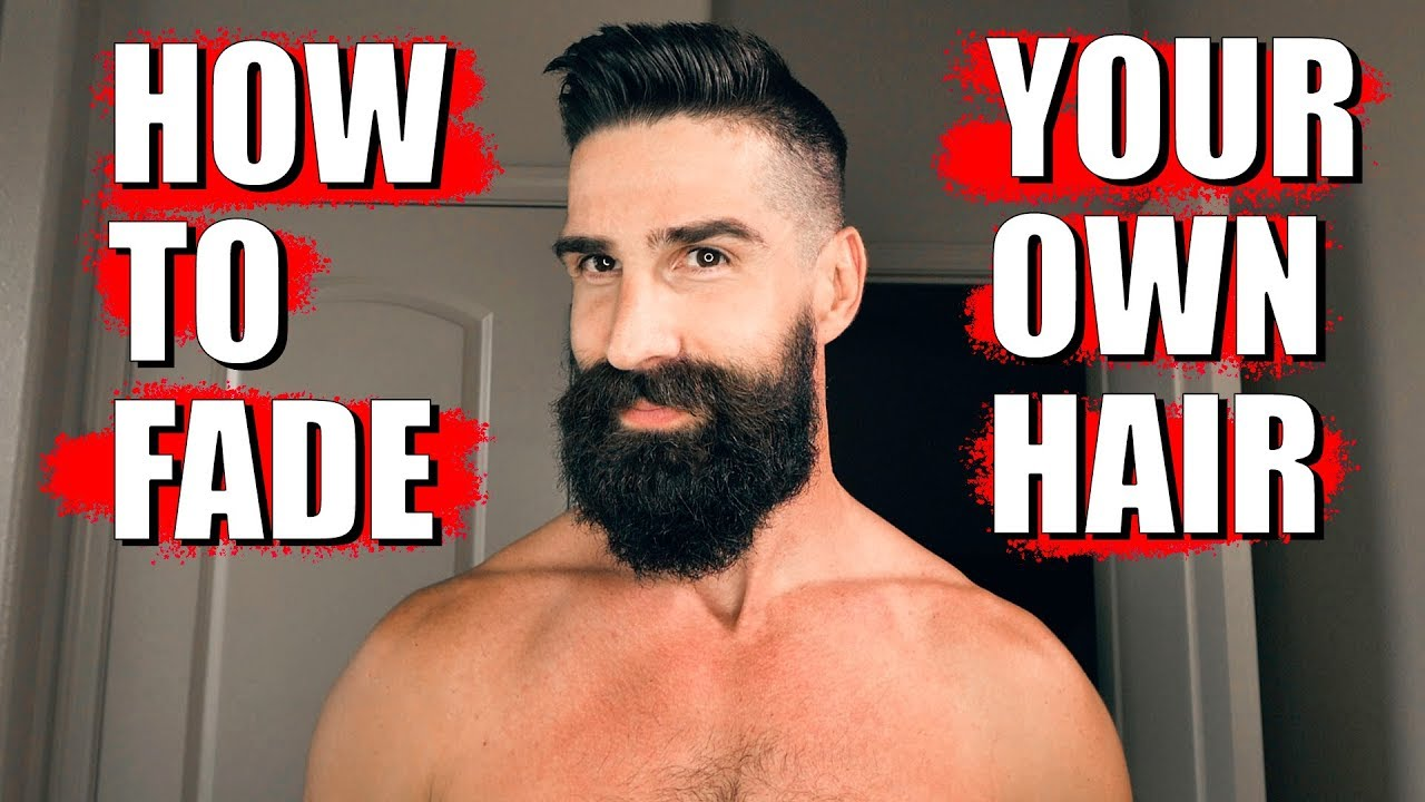How To Fade Your Own Hair Med High Fade Beard Trim Youtube