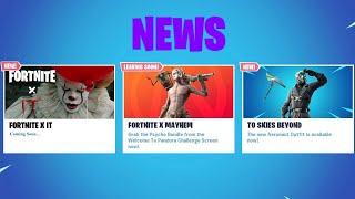 *NEW* FORTNITE X IT EVENT COMING SOON! - ITEM SHOP SKIN UPDATE! (Fortnite Battle Royale)