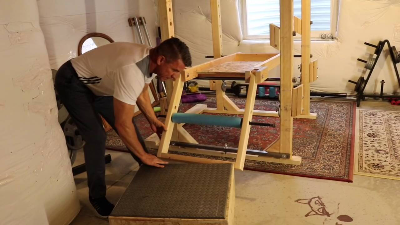 DIY Power Rack Leg Extension - YouTube