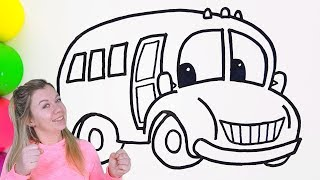 How to Draw A Toy Bus