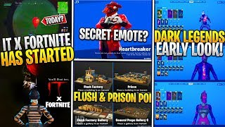 *NEW* Fortnite: Dark Legends Pack Early Look, IT Collab Preview, Heart Breaker Secret Emote & POI's