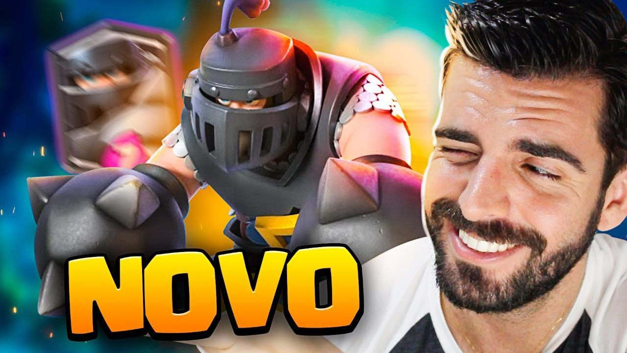 NOVO DECK DE MEGA CAVALEIRO NO CLASH ROYALE