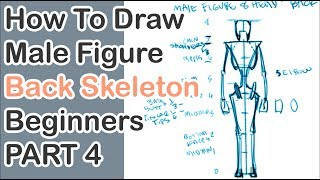 Male Back View Skeleton Pt. 4