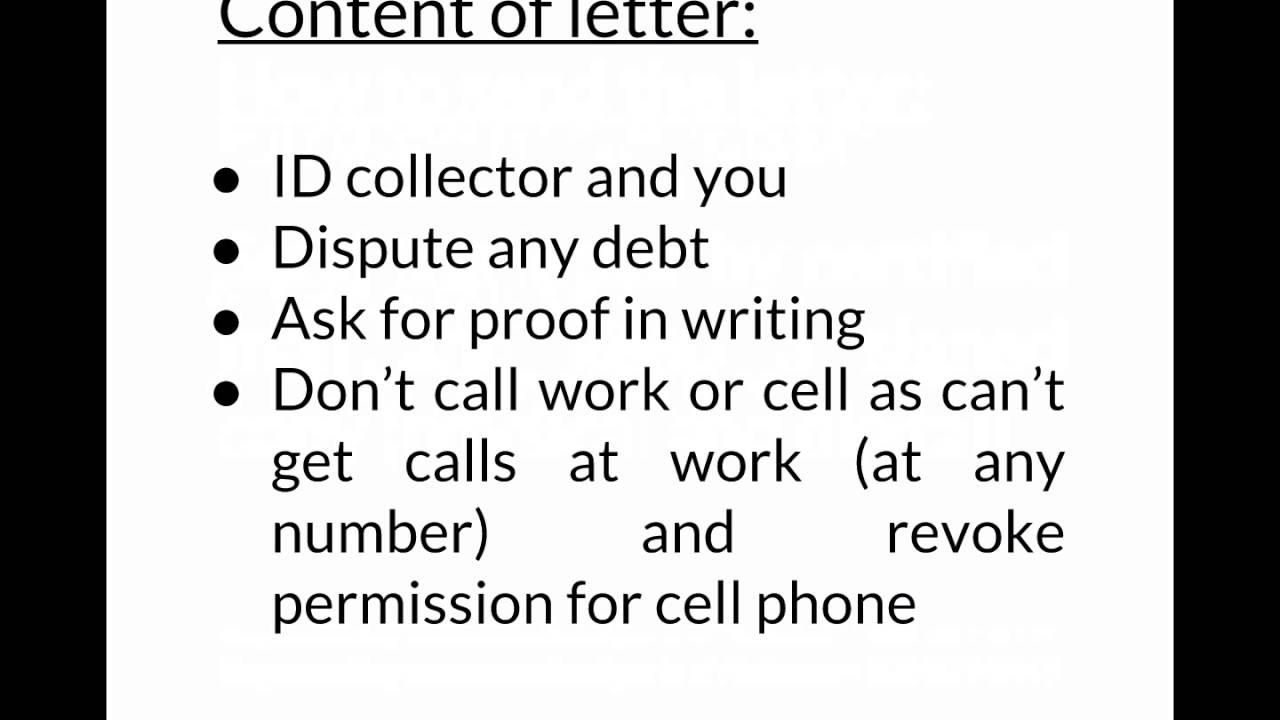 good form dispute letter under fdcpa to send to debt collectors
