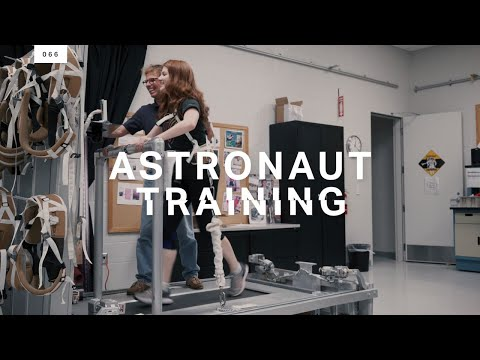 Testing out an astronaut's exercise regimen