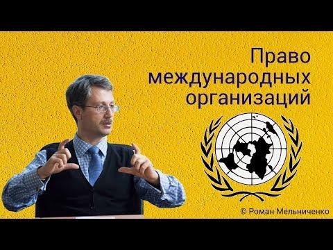 Право международных организаций (студия)