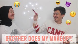 BROTHER DOES MY MAKEUP | Lylania