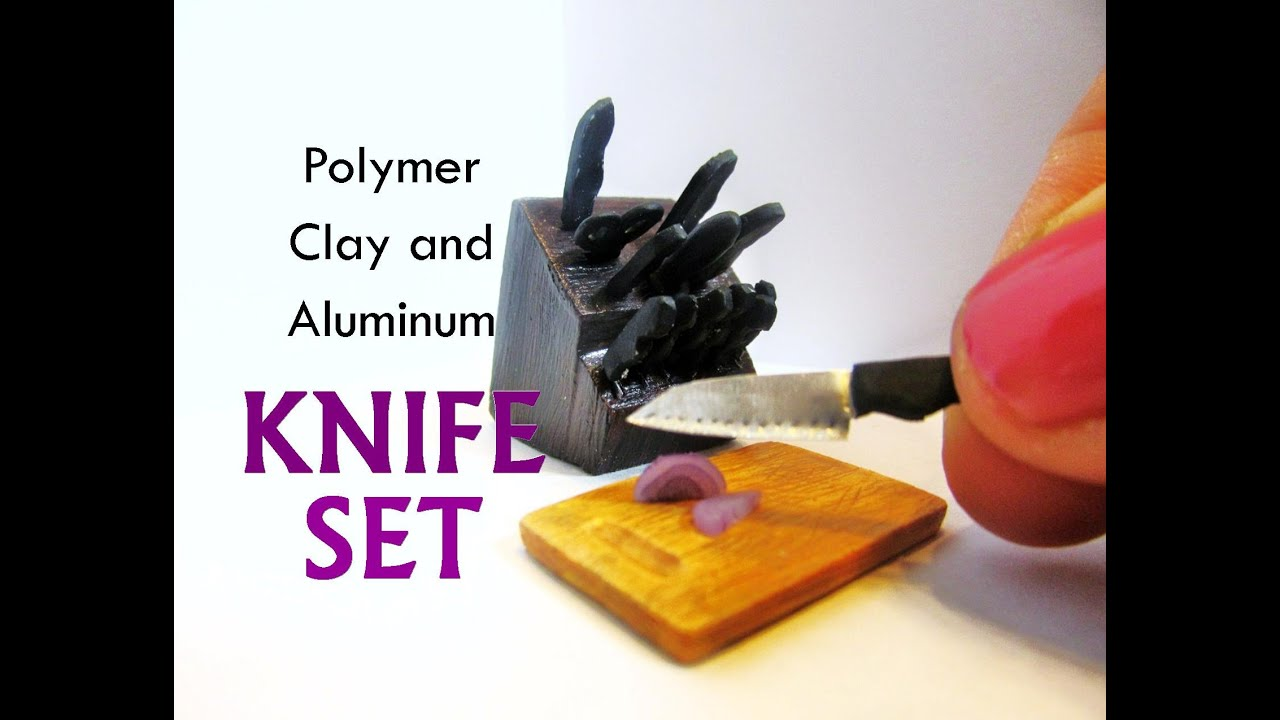 Polymer Clay and Aluminum Dollhouse Miniature Kitchen Knife Set ...