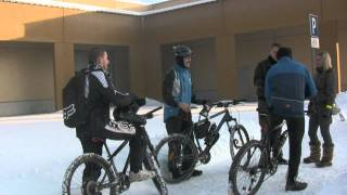 Про езду зимой на велосипеде.