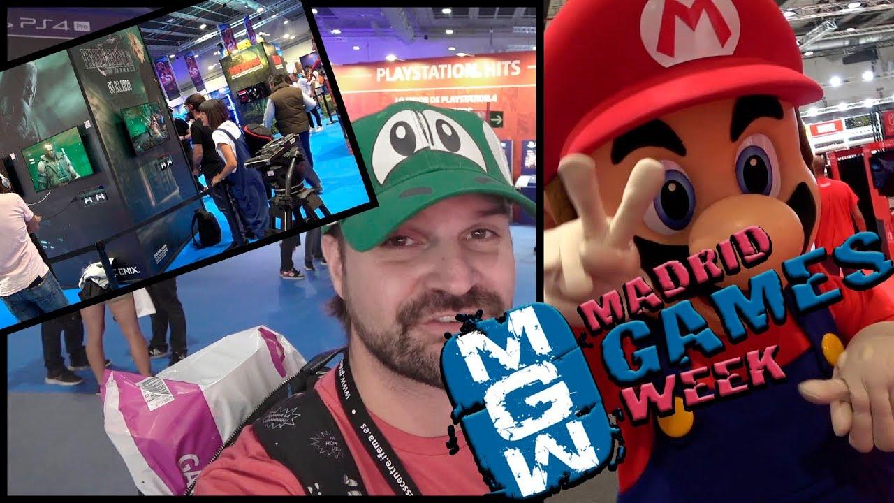 Vlog MADRID GAMES WEEK 2019 Probando FFVII REMAKE, LUIGI´S MANSION 3, AVENGERS y DBZKAKAROT