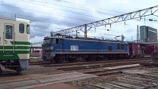 2019.03.23 貨物列車(4061列車)秋田駅発車 ※秋田駅約1時間10分遅れ