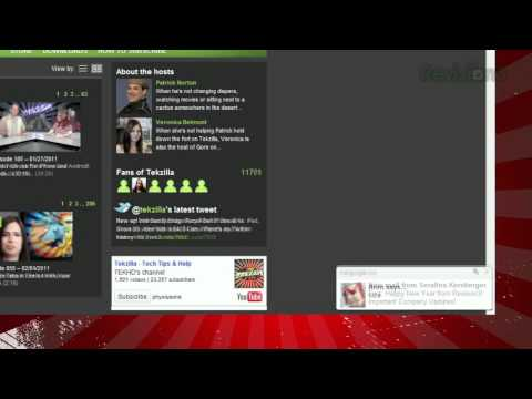 New Gmail Chat And Message Alerts - Tekzilla Daily Tip