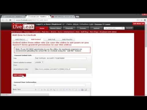 Embed Youtube videos in Liveleak comments