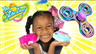 Youtube KIDS FIDGET SPINNERS Family Fun Toys! Children & Mommy get ZhuZhu Pets.