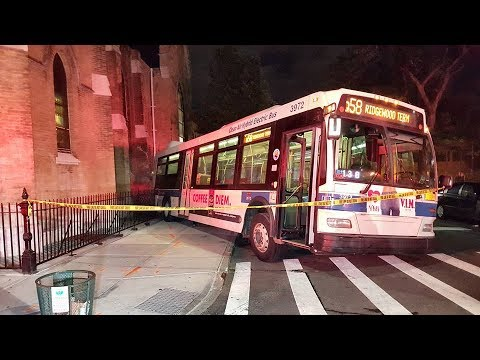 Runaway MTA Bus Crashes Down Brooklyn Street, Into Church! | What's Trending Now!