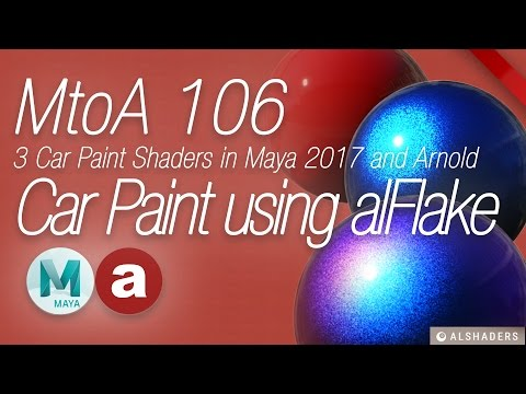 Creating Car Paint Shaders With Arnold and alFlake - Lesterbanks
