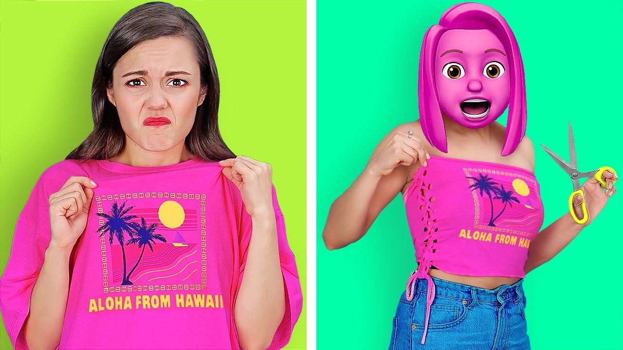 GENIUS CLOTHES HACKS FOR POPULAR GIRLS    Smart DIY Ideas by 123 GO! SCHOOL