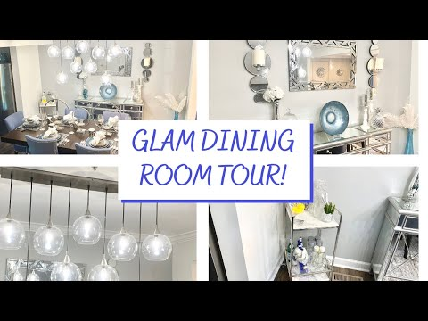 glam-dining-room-tour!-small-space!-z-gallerie,-homegoods,-west-elm!