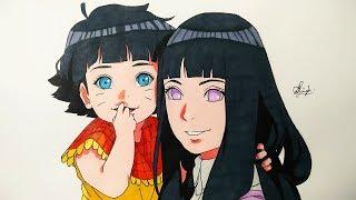Drawing Hinata & Himawari - Boruto