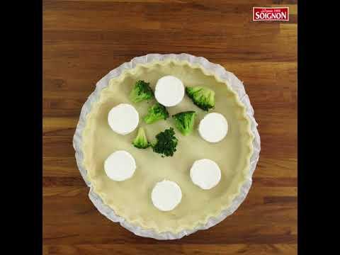 quiche-au-fromage-de-chèvre,-brocolis-et-sésame.