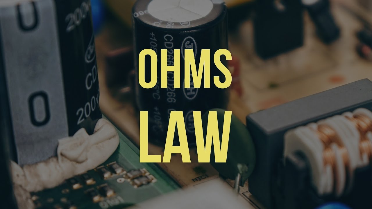 Ohms law definition & solved example - YouTube