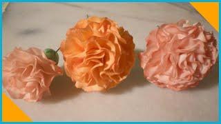 Flowers in sugar paste: tutorial carnations by ItalianCakes